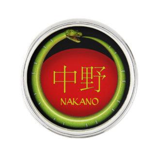 Nakano Monogramm-Schlange Anstecknadel