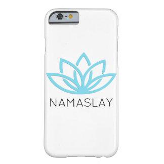 NAMASLAY blauer einfacher Lotus Telefon-Kasten Barely There iPhone 6 Hülle