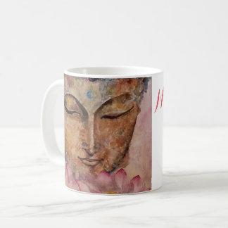 Namast'ay in der Bett-Buddha-Kunst-Kaffee-Tasse Kaffeetasse