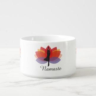 Namaste Baum-Yoga-Pose-bunter Lotos-LogoYogi Schüssel