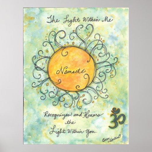 Namaste Bestätigungs-Kunstdruck Poster