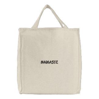 Namaste Bestickte Tragetasche