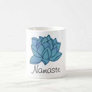 Namaste blauer Lotos-Tasse Kaffeetasse