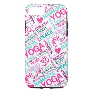 Namaste, Frieden und Harmonie rosa YOGA Muster iPhone 8/7 Hülle