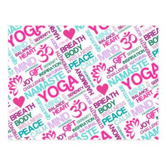 Namaste, Frieden und Harmonie rosa YOGA Muster Postkarte
