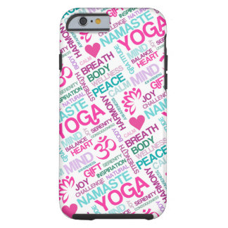Namaste, Frieden und Harmonie rosa YOGA Muster Tough iPhone 6 Hülle