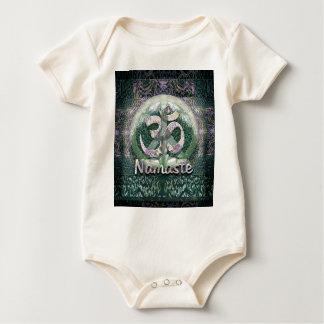 Namaste Friedenssymbol Baby Strampler