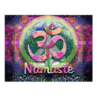 Namaste Friedenssymbol Postkarte