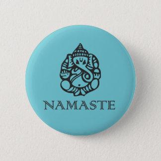 Namaste Ganesh Abzeichen Runder Button 5,7 Cm