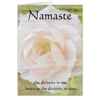 Namaste Göttlichkeits-Blumen-Karte Karte