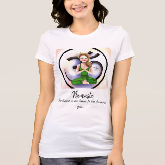 """Namaste im Leben"" Kurz-Hülse Shirt"