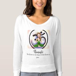 """""""Namaste im Leben"""" Lang-Hülse Shirt"""