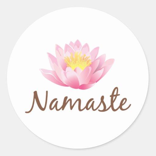 Namaste Lotos-Blumen-Yoga Aufkleber