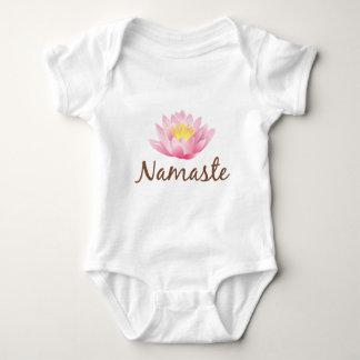 Namaste Lotos-Blumen-Yoga Baby Strampler