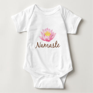 Namaste Lotos-Blumen-Yoga Babybody