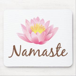 Namaste Lotos-Blumen-Yoga Mousepad
