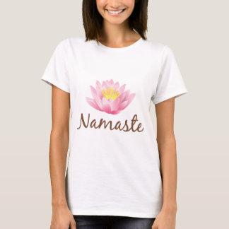 Namaste Lotos-Blumen-Yoga T-Shirt