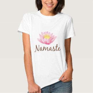 Namaste Lotos-Blumen-Yoga Tshirt