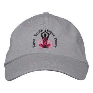 Namaste Lotos-OM-Yoga-Pose gestickt Bestickte Kappe