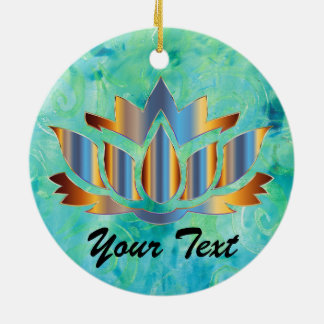 Namaste Lotus Blau-Verzierung Keramik Ornament