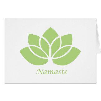 Namaste Lotus Karte
