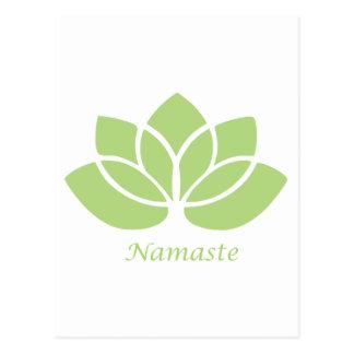 Namaste Lotus Postkarte