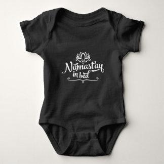 Namaste lustiger Zitat-Baby-Bodysuit Baby Strampler