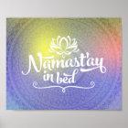 Namaste Mandala-lustiges Zitat-Plakat Poster