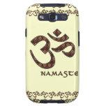Namaste mit OM-Symbol Brown und Creme Galaxy S3 Schutzhüllen