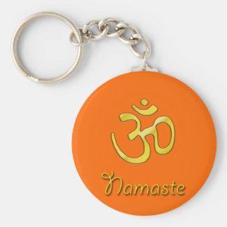 Namaste mit OM-Symbol keychains Schlüsselanhänger