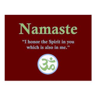Namaste - mit Zitat und OM-Symbol Postkarte