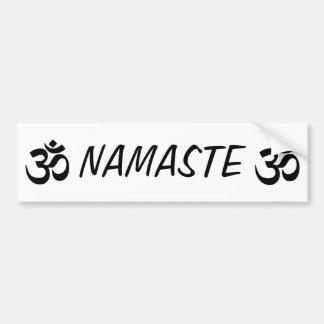 Namaste OM YOGA Autoaufkleber