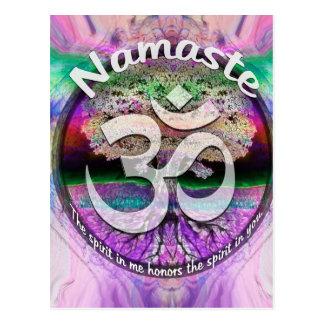 Namaste Postkarte