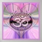 Namaste Regenbogen Poster