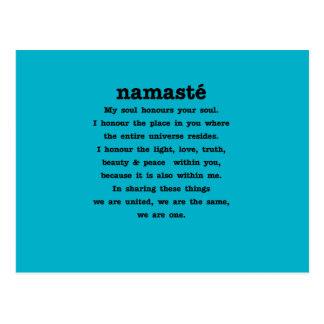 Namaste Sammlung Postkarte