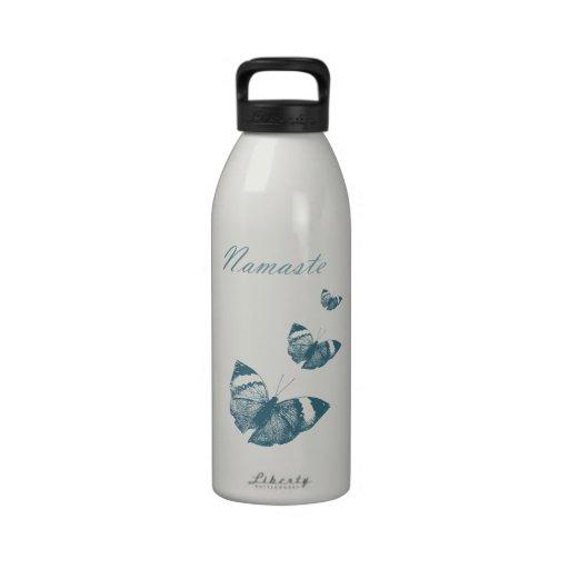 Namaste Schmetterlinge Wasserflasche