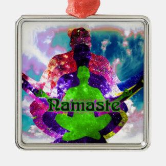 Namaste Silbernes Ornament