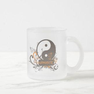 Namaste Yin Yang Matte Glastasse