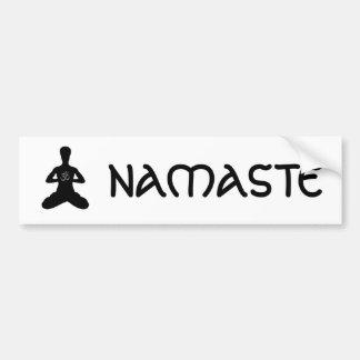 NAMASTE Yoga-Autoaufkleber Autoaufkleber