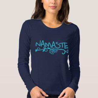 Namaste Yoga-Spitze - lange Hülse Tshirts
