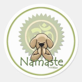 Namaste - Yogaaufkleber Runder Aufkleber