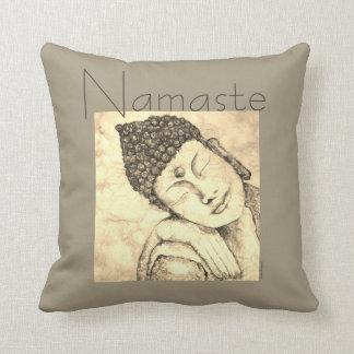 Namaste Zen-Buddha-Aquarell-Kunst-Kissen Kissen