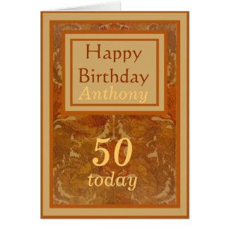Name-50. Geburtstags-Karte Grußkarte