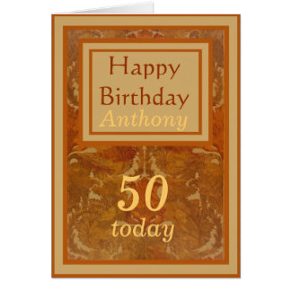 Name-50. Geburtstags-Karte Karte