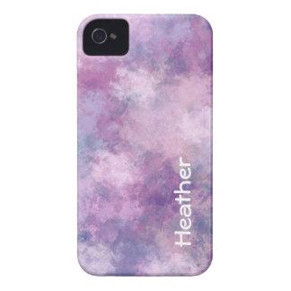 Name-abstraktes Blau, Flieder und Rosa iPhone 4 Hülle
