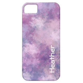 Name-abstraktes Blau, Flieder und Rosa iPhone 5 Hülle