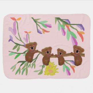 Name-Baby-Koala Kinderwagendecke