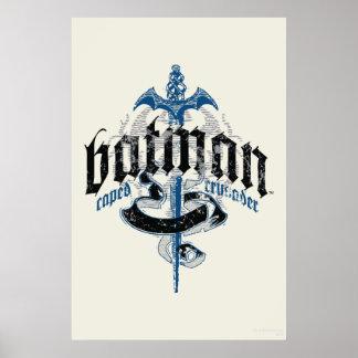Name Batmans | mit Klinge-Logo Poster