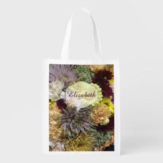 Name-Blumengarten Wiederverwendbare Einkaufstasche