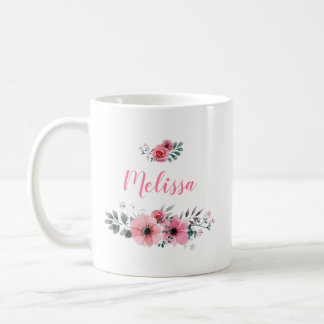 Name-Blumenkaffee-Tasse Kaffeetasse